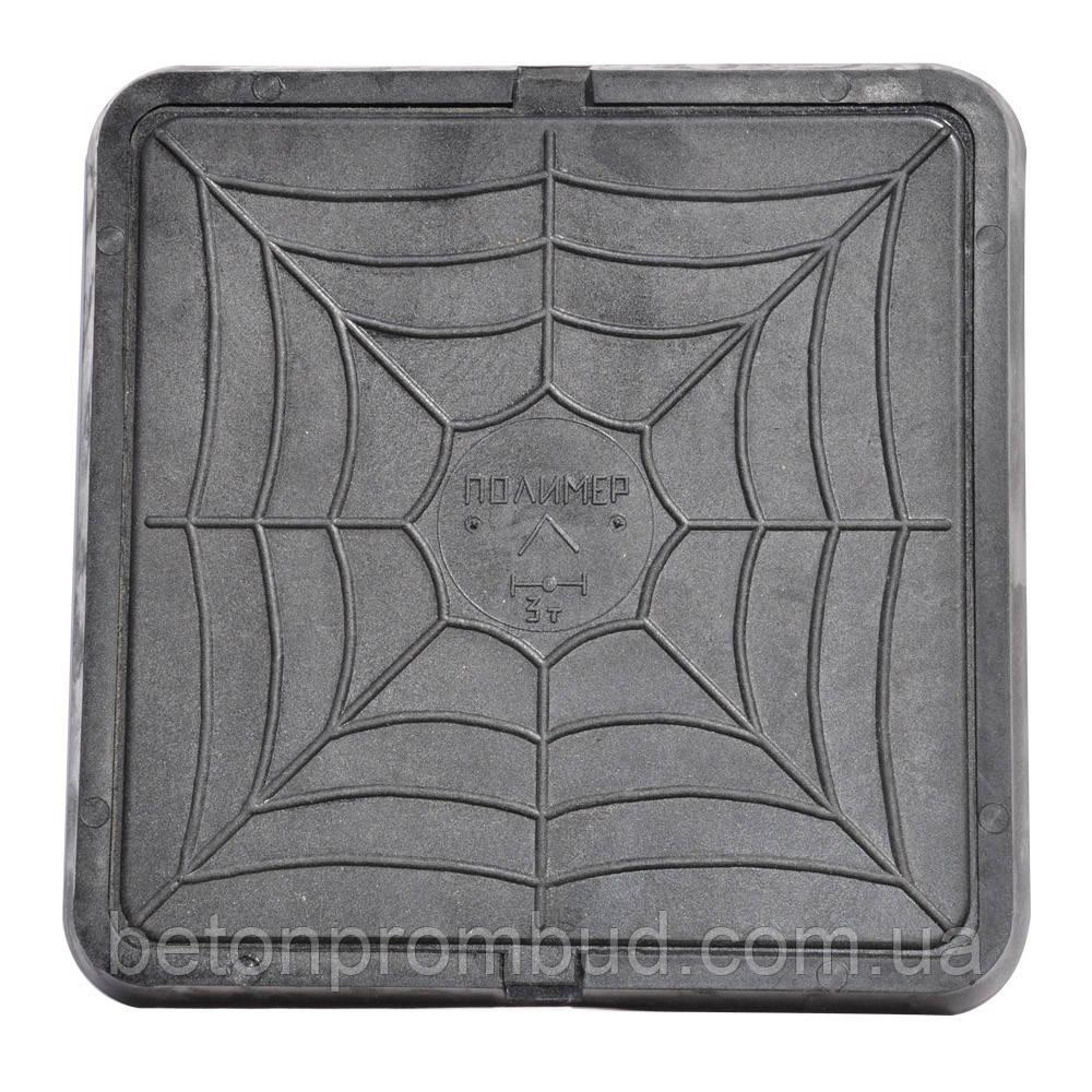 Люк квадратный (пластиковый, черного цвета)