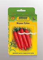 Семена на ленте морковь Рубина 5м