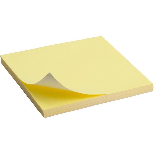 Блок бумаги статической 75x75мм, 100 листов., желт, 2448-01-A
