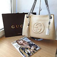Сумка Gucci золотая, фото 1