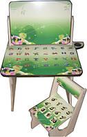 """Детский стол парта мольберт """"Зелень"""""""