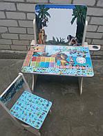 "Детский стол парта мольберт ""Мадагаскар"""