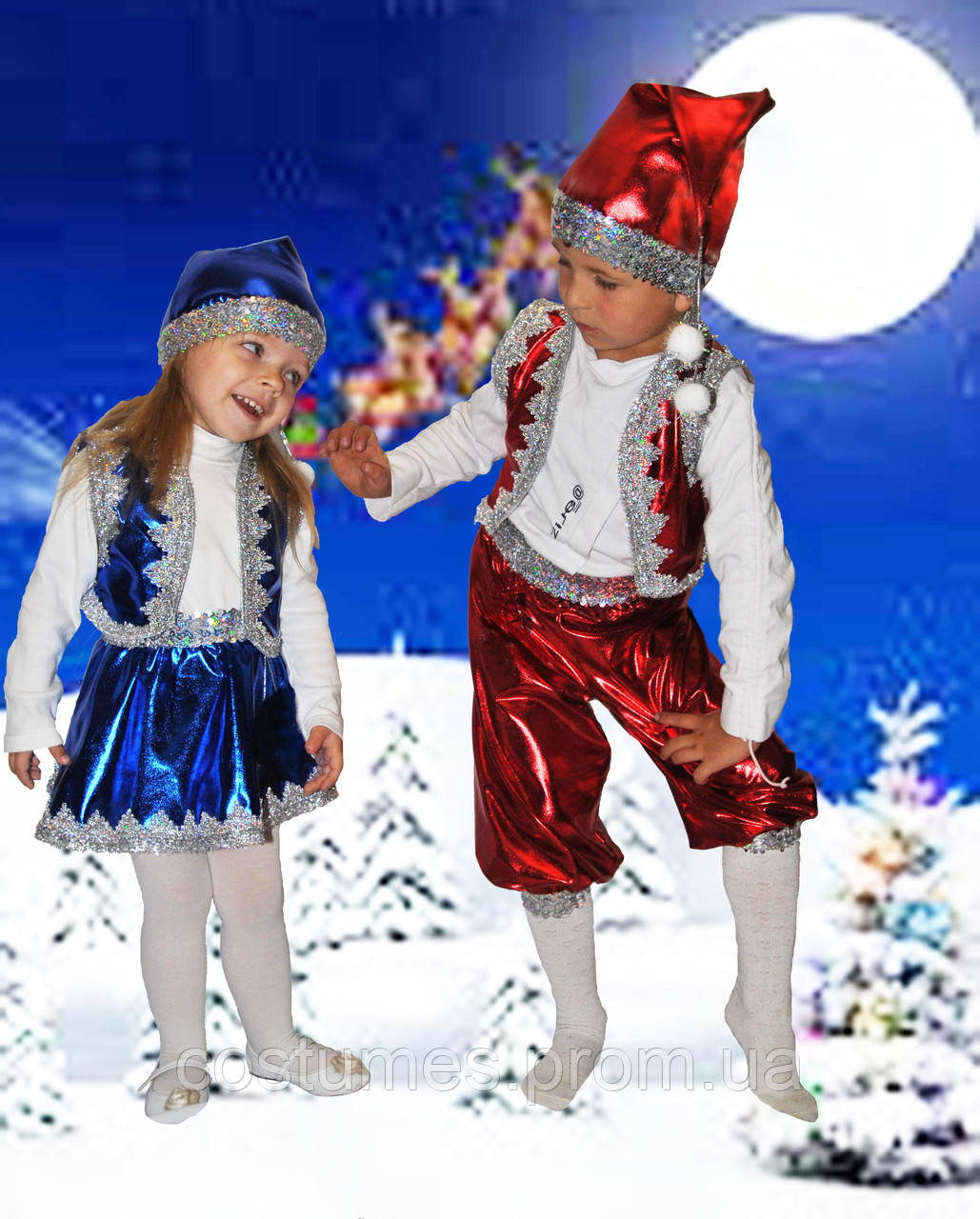 Карнавальные костюмы Гномик мальчик синий, красный ... - photo#10