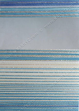 Рулонные шторы День-Ночь Дольче C-815 голубой блеск, фото 2