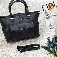Брендовая женская сумка черная большая