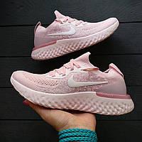Кроссовки Nike React Free Run Flyknit Pink White, фото 1