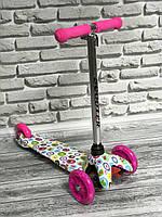"""Самокат MINI """"Scooter"""" 906 ( 6) 3 колеса свет, PU, трубка руля алюминиевая., фото 1"""