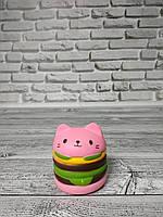 Анти-стрессовая игрушка «Сквиши-кот гамбургер»