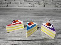 Анти-стрессовая игрушка «Сквиши-кусочек тортика»
