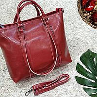 Женская  красная сумочка из натуральной кожи, фото 1