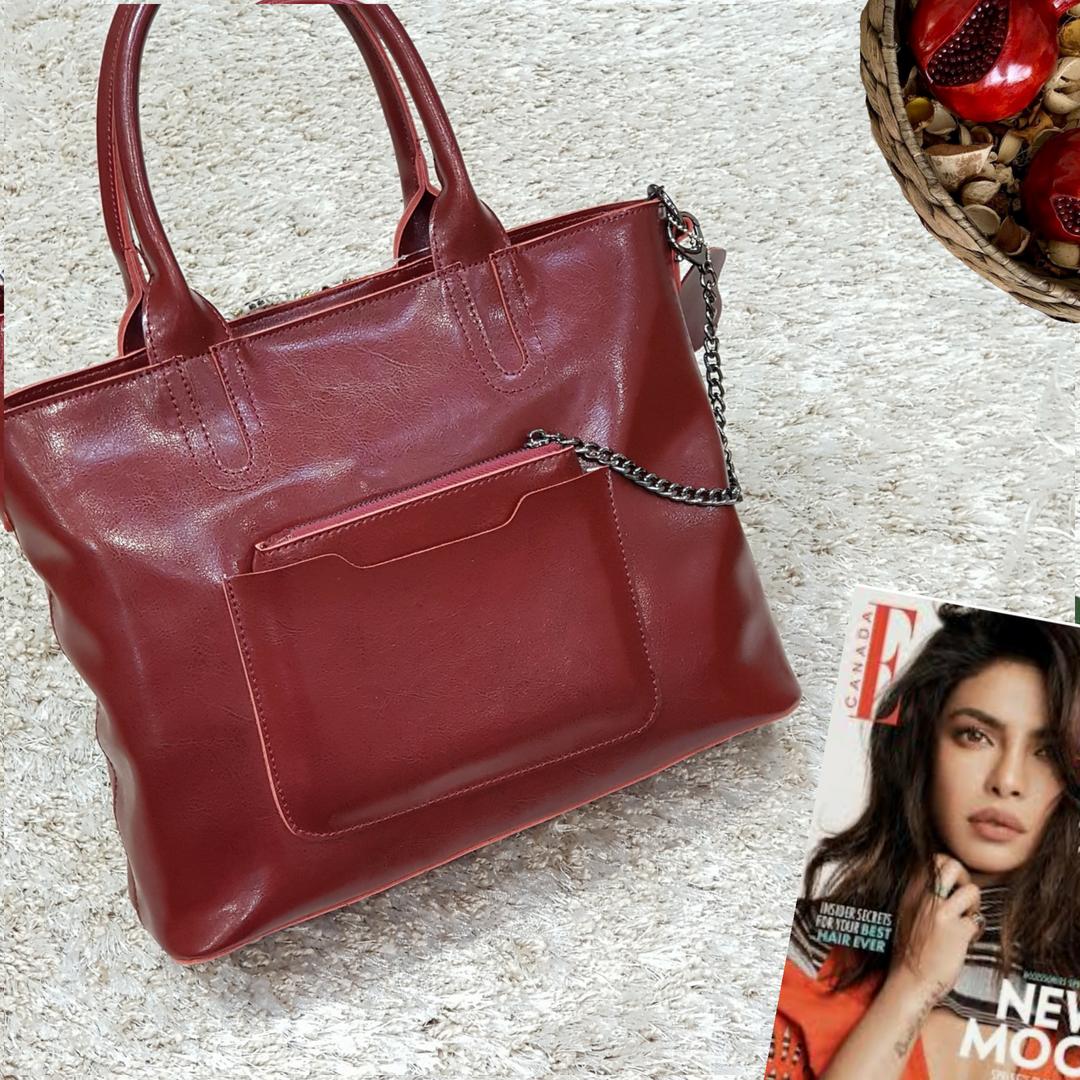 Женская  винная сумочка из натуральной кожи
