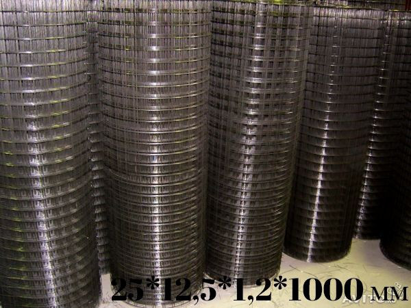 Сетка сварная оцинкованая  25*12,5*1,2*1000 (30м)