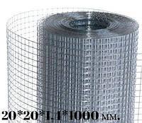 Сетка оцинкованная 20*20*1,4*1000(30м.)