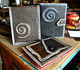 Кожаная обложка сетчбука винтажная подарок, фото 2