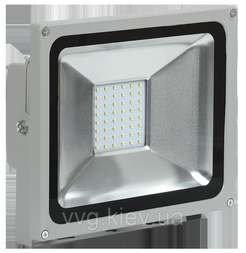 Прожектор СДО 02-20 светодиодный LED, дискретные светодиоды серый IP65 IEK