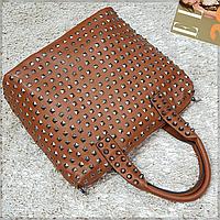 Брендовая женская сумка рыжая