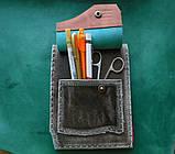 Кожаная обложка сетчбука винтажная подарок, фото 9