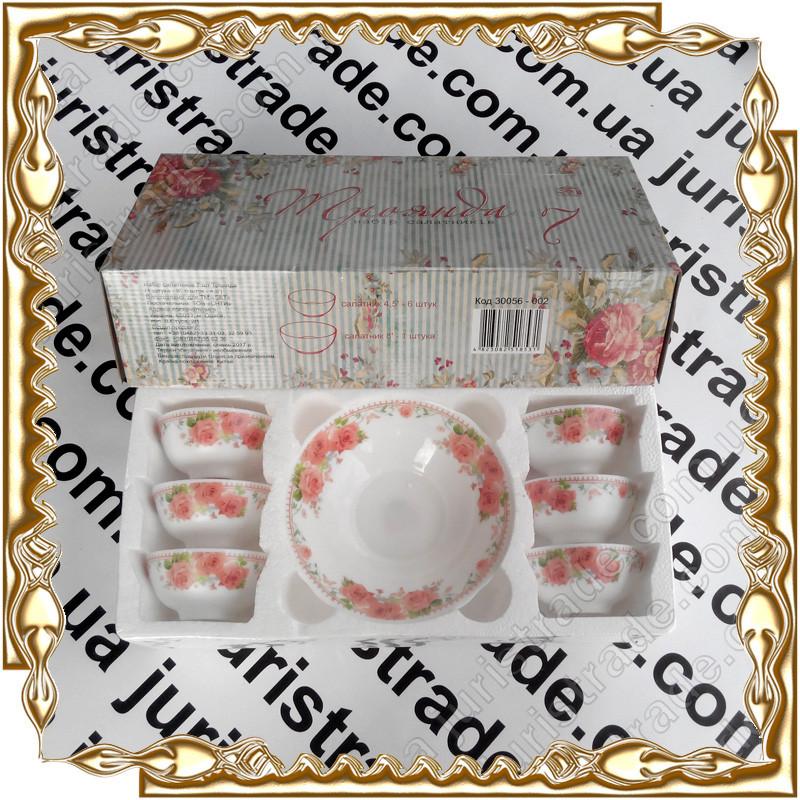 Набор 7 предметов салатников Роза, стеклокерамика 30056-002