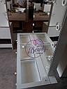 Стол  визажиста с витриной на столешнице, гримерный столик, зеркало с подсветкой, белый, фото 10