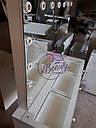 Стол  визажиста с витриной на столешнице, гримерный столик, зеркало с подсветкой, белый, фото 8