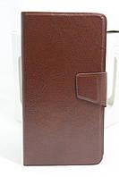 """Кожаный чехол-книжка для смартфона универсальный 5,2""""-5,7"""""""