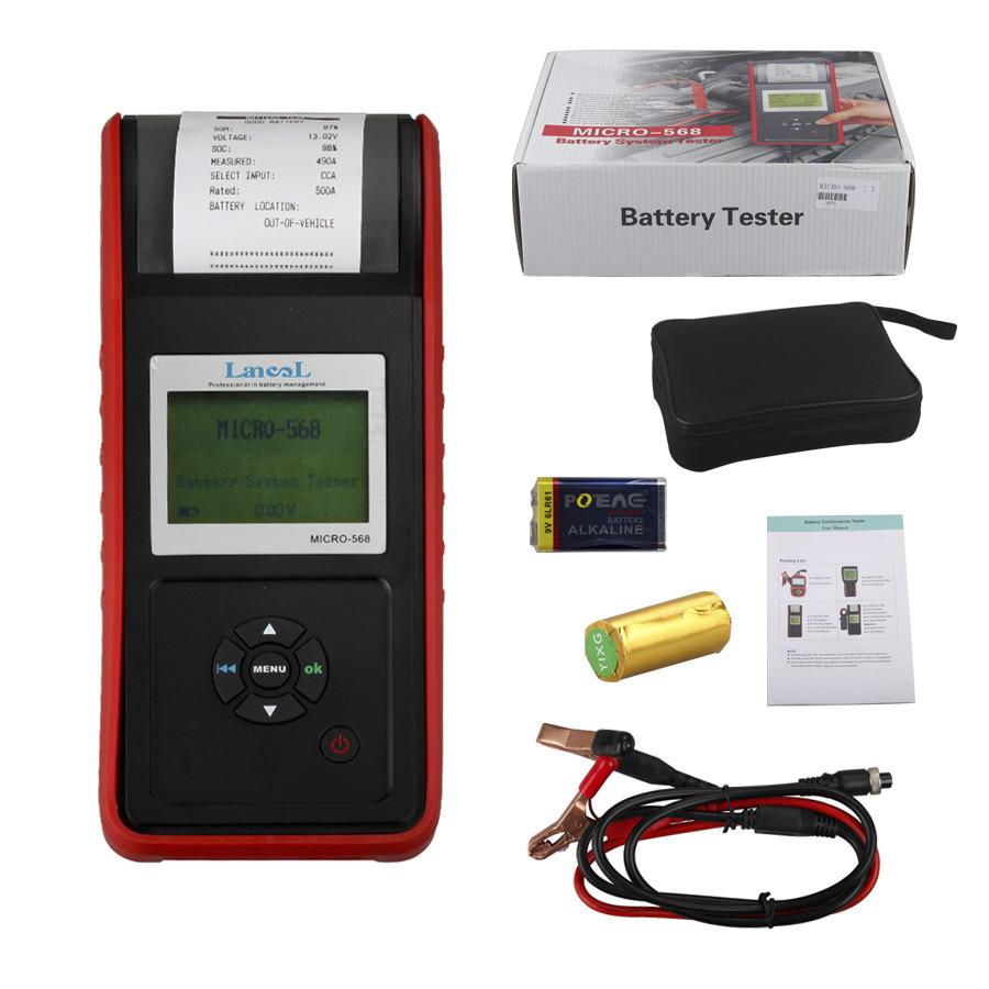 Lancol micro 568 (с принтером) анализатор автомобильный батарей, тесто