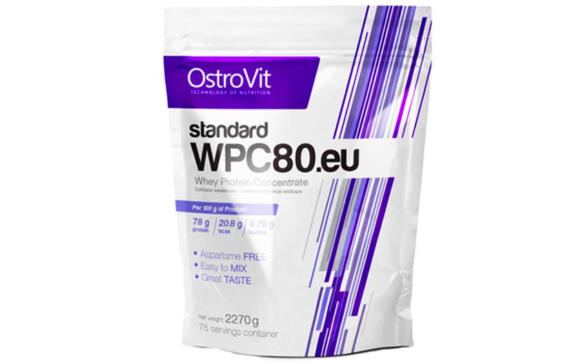 Протеїн OstroVit Standard WPC80 - 2270 g. (ШОКОЛАД)