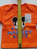 Ясельная кофта 3508 Н рост 56,62, размер 40 МИКИ МАУС оранжевая, фото 2