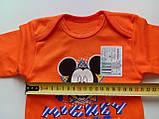 Ясельная кофта 3508 Н рост 56,62, размер 40 МИКИ МАУС оранжевая, фото 3