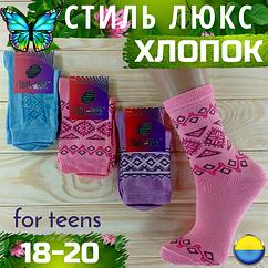 Детские носки демисезонные СТИЛЬ ЛЮКС Украина ассорти 18-20 размер орнамент НДД-08277