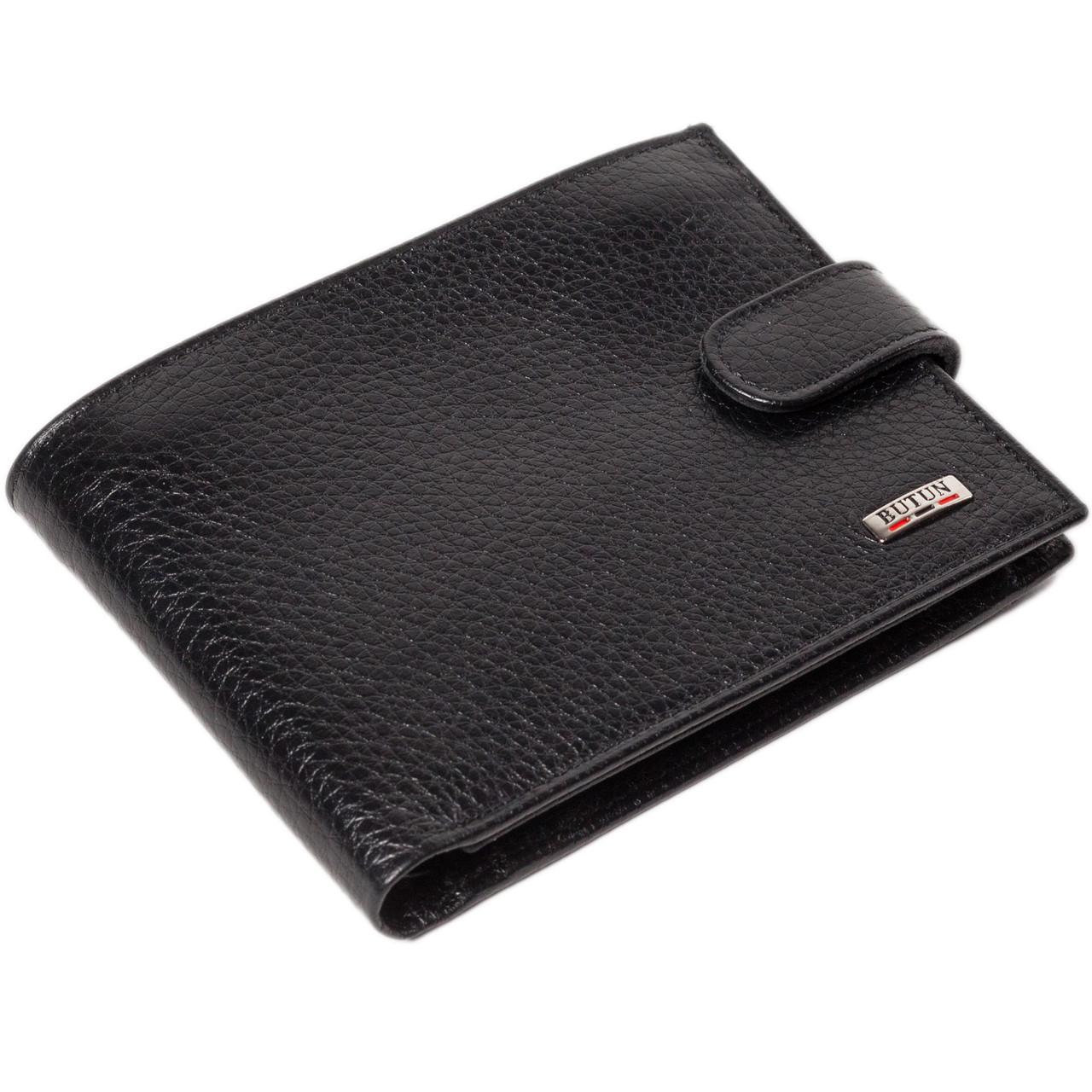 Мужское портмоне кожаное черное Butun 207-004-001