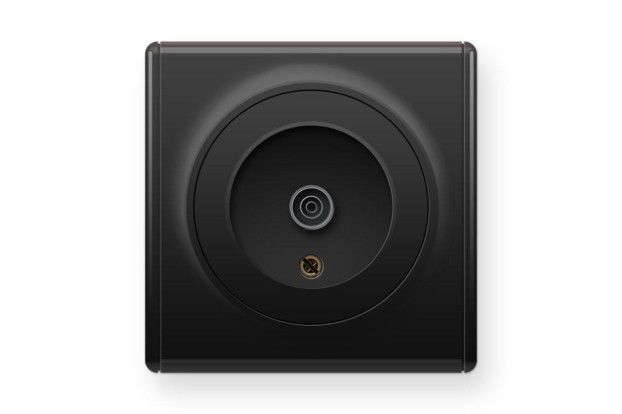 Розетка антенна TV, колір чорний (серія Florence), фото 1