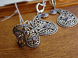 Новинка! Серебряное винтажное кольцо Кипарис, фото 6