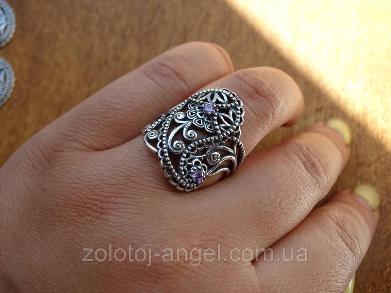 Новинка! Серебряное винтажное кольцо Кипарис