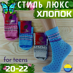 Детские носки демисезонные СТИЛЬ ЛЮКС Украина ассорти 20-22р   НДД-08282