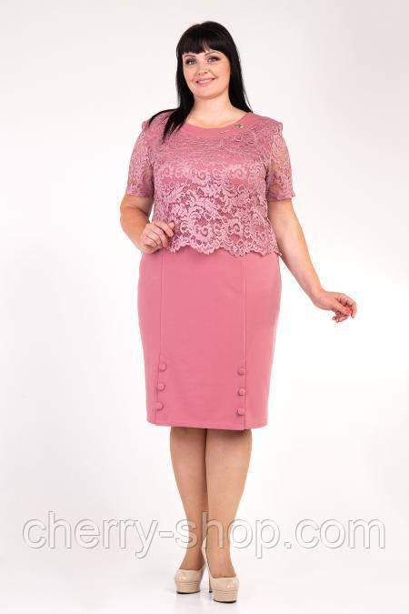 Стильное женское платье . в красивом пудровом цвете