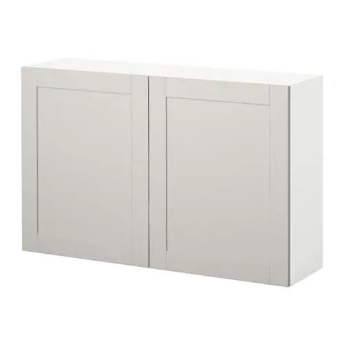 Навесной шкаф c дверцами IKEA KNOXHULT 120x75 см серый 003.267.96
