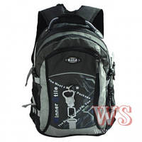 Рюкзак школьный серого цвета с отделением для ноутбука для мальчиков