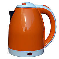 Электрочайник металл-пластик  DT 806 оранжевый 2 литра распродажа