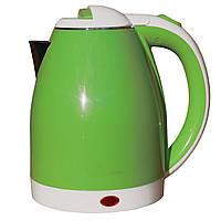 Электрочайник металл-пластик  DT 806 зеленый 2 литра распродажа