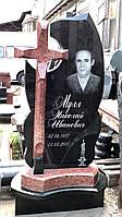 Памятник из гранита с крестом №211