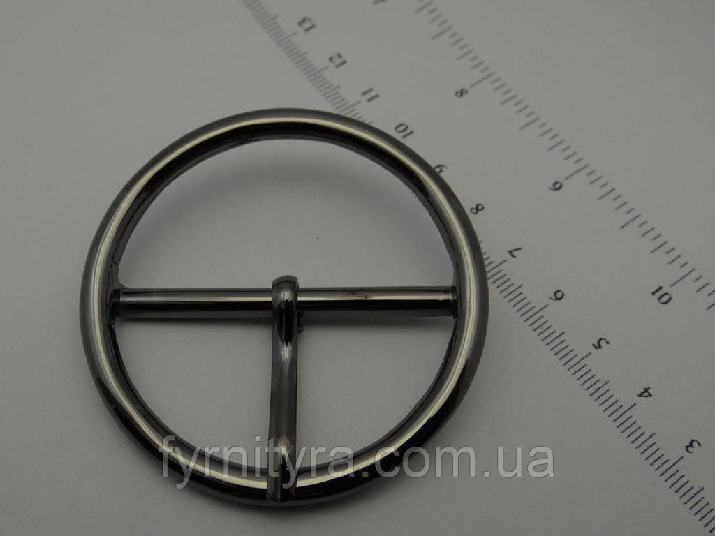 Пряжка металлическая 50 мм 016 №9 никель, темный никель