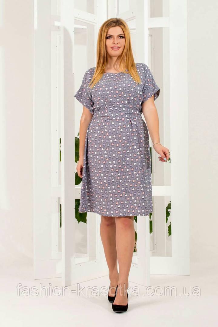 3aac1719c08 Нарядное легкое летнее платье в размерах 50-60  продажа