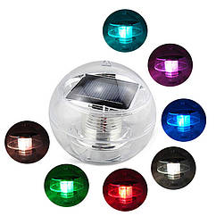 Куля плаваючий зі світлодіодним підсвічуванням на сонячній батареї AS-SPD-З – різнобарвний (RGB)