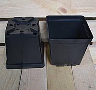 Квадратные стандартные горшки 3 л., (16х16х16 см)