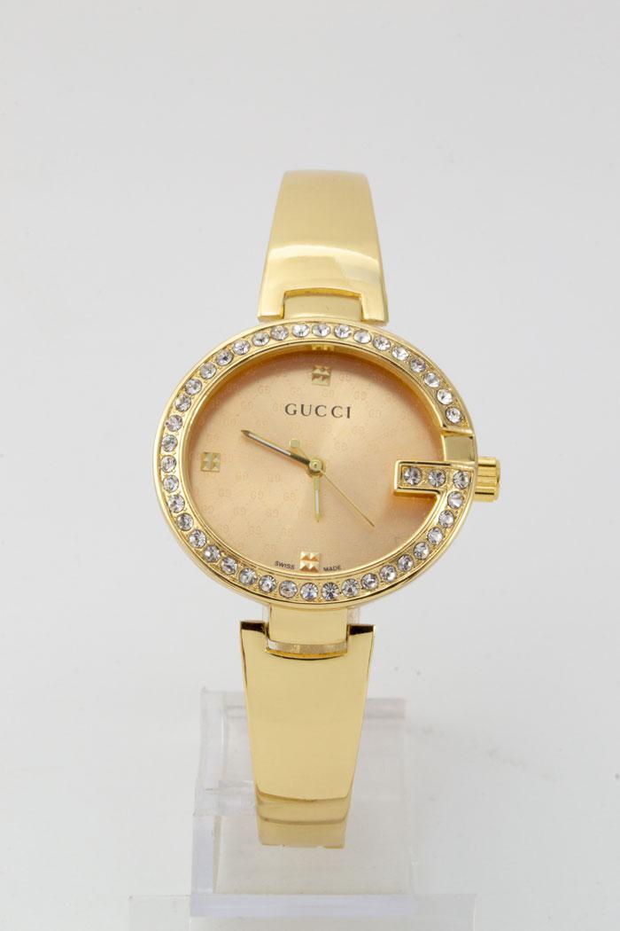 Женские наручные часы Gucci (Гуччи),цвет корпуса и циферблата золотой