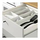 Напольный шкаф с ящиками и дверцами IKEA KNOXHULT 180 см белый 203.267.95, фото 3
