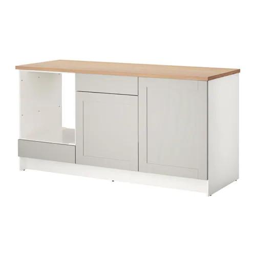 Напольный шкаф с ящиками и дверцами IKEA KNOXHULT 180 см белый 203.267.95