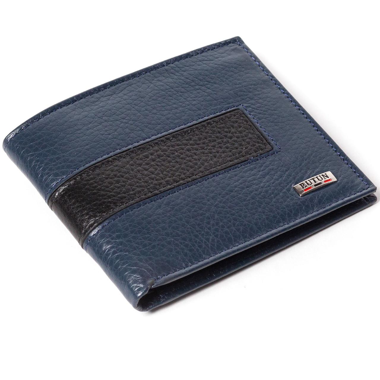 Мужской кошелек кожаный синий BUTUN 118-004-057