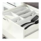 Напольный шкаф с ящиками и дверцами IKEA KNOXHULT 180 см белый глянцевый черный 303.268.08, фото 5